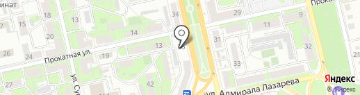 Рамочка на карте Липецка