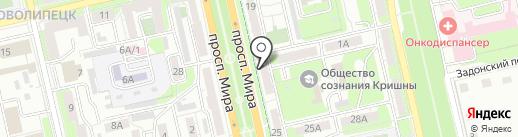 Покой Сервис-Л на карте Липецка