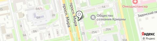 Луиза на карте Липецка