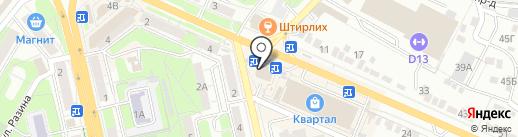 Магнит Косметик на карте Липецка