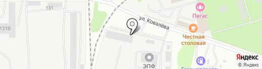 Октябрьское на карте Липецка