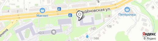 Средняя школа №9 им. М.В. Водопьянова на карте Липецка