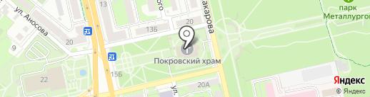 Покровский храм на карте Липецка