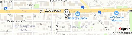 Технопарк на карте Ростова-на-Дону