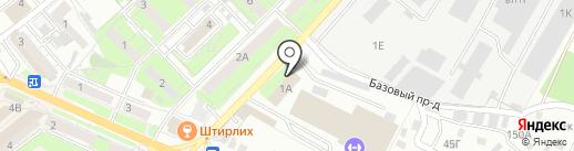 Осьминог на карте Липецка