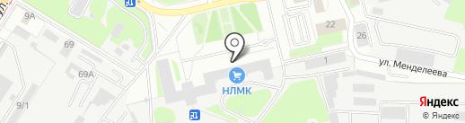 Пожарно-спасательная часть №4 на карте Липецка