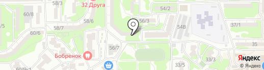 Детская поликлиника №45 на карте Ростова-на-Дону