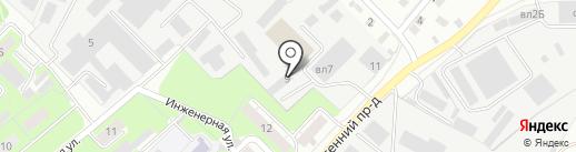 Техкомплект на карте Липецка