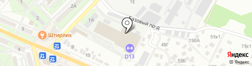Todes на карте Липецка
