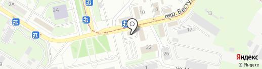 Прокуратура Левобережного района на карте Липецка