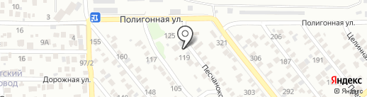 Лев на карте Ростова-на-Дону