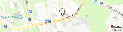 Берендей на карте Липецка