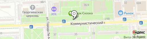 Джунгли на карте Ростова-на-Дону
