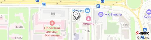 Милис на карте Ростова-на-Дону