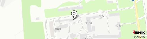Дальнобойщик на карте Липецка