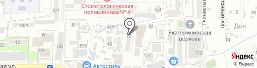 МОСАВТО на карте Ростова-на-Дону