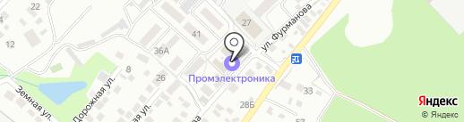 Липецкий на карте Липецка