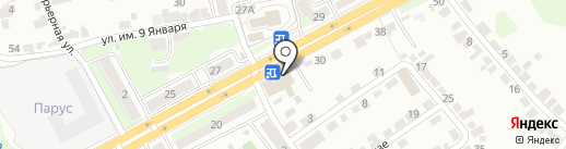 Золотой ларец на карте Липецка