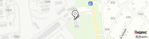 Азимут на карте Липецка