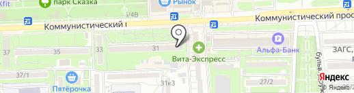 Велес на карте Ростова-на-Дону