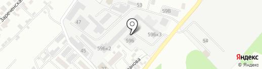 Нива на карте Липецка