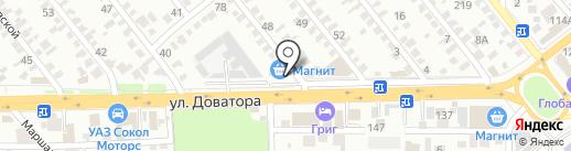 БАКАУТ на карте Ростова-на-Дону