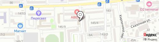 Эскулап на карте Ростова-на-Дону