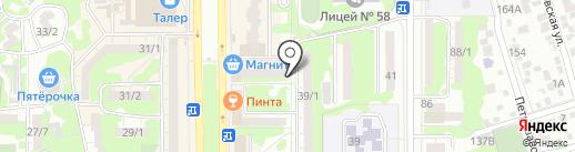 Конфетка на карте Ростова-на-Дону
