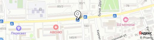 Магазин фастфудной продукции на карте Ростова-на-Дону