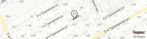 Спираль на карте Ростова-на-Дону