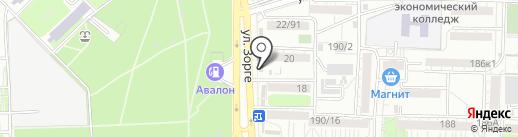 Славяна на карте Ростова-на-Дону