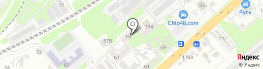 Липецкая областная специальная библиотека для слепых на карте Липецка