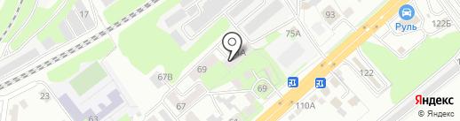 Верба на карте Липецка