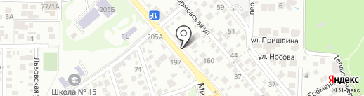 ДИВАНОВО на карте Ростова-на-Дону