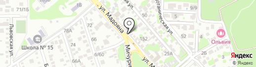 АВТОЮГ161 на карте Ростова-на-Дону