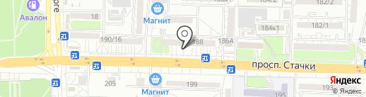 Росгосстрах банк, ПАО на карте Ростова-на-Дону