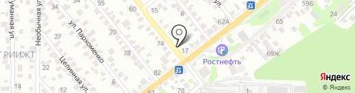 Тигрус на карте Ростова-на-Дону