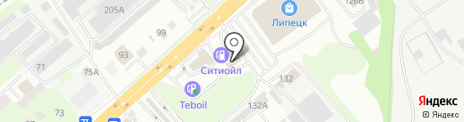 Автомойка на Студёновской на карте Липецка