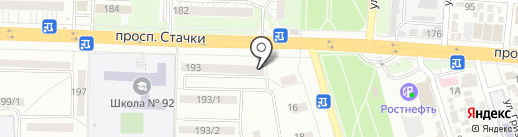Хмелев на карте Ростова-на-Дону