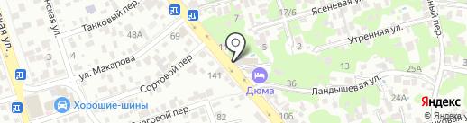 Краски на карте Ростова-на-Дону