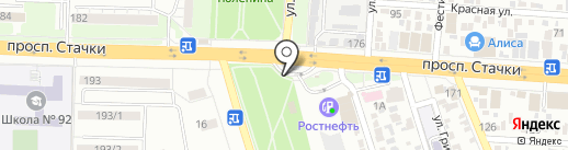 Жажда на карте Ростова-на-Дону