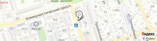 СевКавАква на карте Ростова-на-Дону