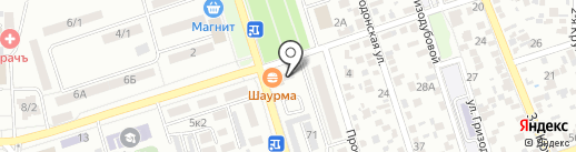 Мужская парикмахерская на карте Ростова-на-Дону