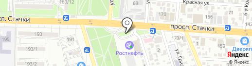 Отделение ГИБДД по оформлению ДТП на карте Ростова-на-Дону