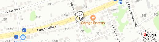 Портовая на карте Ростова-на-Дону