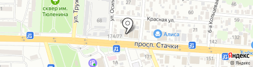 Стальная Линия на карте Ростова-на-Дону