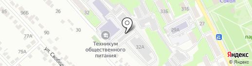 Ликон на карте Липецка