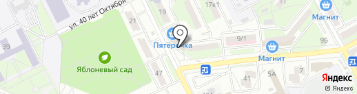 Бархат на карте Липецка