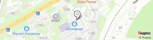 Модница на карте Ростова-на-Дону