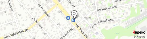 Тунец на карте Ростова-на-Дону